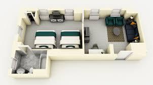 Hotel Suite Floor Plans by Premium Suite Two Queen Beds Warwick Allerton Hotel Chicago