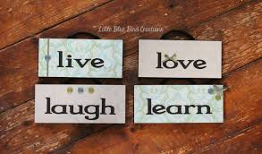 Live Love Laugh Home Decor Live Laugh Love Learn Hanging Wood Signs Home Decor Wood