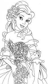 belle coloring pages disney princess girls 361548