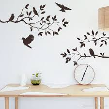 wall decor stickers for living room modern style home design ideas wall decor stickers for living room black bird and tree branch leaves wall sticker decal removable