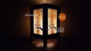 asian oriental cherry blossom japanese lamp zen bedside lamp