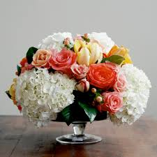 hydrangea centerpieces roses and hydrangea centerpieces home designing