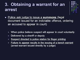 Bench Warrant Procedures Investigation And Arrest Law 12 Part 1 The Arrest Due Process