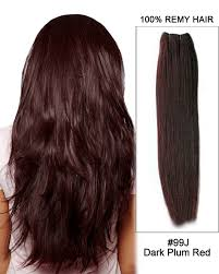 brown plum hair color 99j dark plum red straight weft remy human hair extension