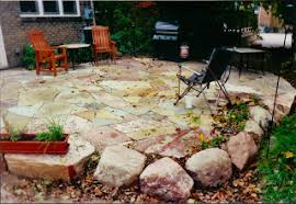 Building Stone Patio by Landscape Design Guru October 2008