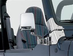 jeep wrangler door mirrors smittybilt 7504 side mirrors in chrome for 87 06 jeep wrangler yj