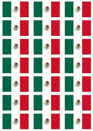 Mexico Flags Mexico Flag Stickers 21 Per Sheet