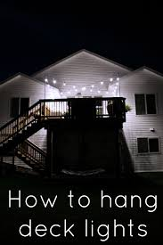 how to hang deck lights with poles what knows