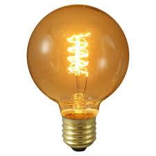 60 watt ES E27mm Globe De Luxe Rustic Antique Decorative Light Bulb