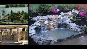 beautiful backyard pond with a waterfall water youtube