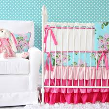 Pink Brown Crib Bedding Turquoise And Brown Baby Bedding Baby Bed