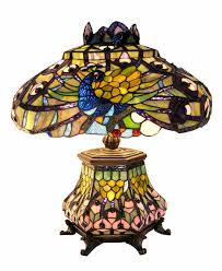Lantern Table Lamp Tiffany Style Peacock Lantern Table Lamp Free Shipping Today