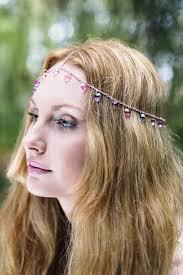chain headpiece lilac and pink heart chain headpiece chain headdress princess