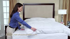 What Is A Feather Bed How To Keep Your Feather Bed From Sliding Around Downlite Youtube
