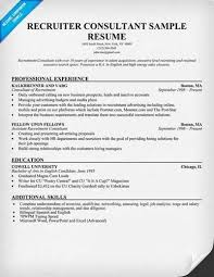 Sample Recruiting Resume by Recruiter Resume Objective