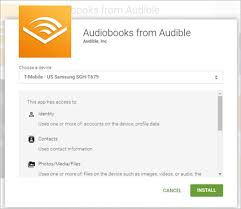 audible for android how can i the audible for android app