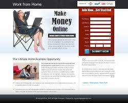 work from home business idea lp 005 work from home landing page