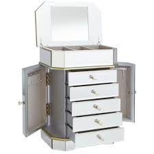 Pier One Mirror Jewelry Armoire Champagne 5 Drawer Mirrored Jewelry Box Pier 1 Imports