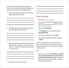 Sample Pitch For Resume by Sample Elevator Pitch Template 11 Free Documents In Pdf Word
