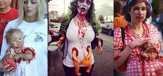 Pregnant Costumes 30 Most Funniest Zombie Costume Pictures Of All The Time