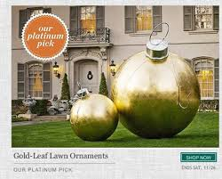 nothing says merry like 20 000 golden lawn ornaments