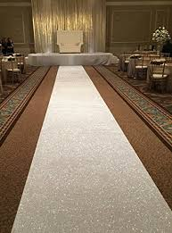 ivory aisle runner wedding runner 4ftx15ft sparkle aisle runner glitter wedding