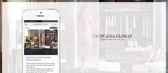 california closets u2013 mobile experience