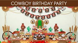 western themed table centerpieces cowboy birthday party ideas cowboy b11 youtube
