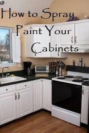 Kitchen Cabinet Spray Paint Surprising Idea  Painting Cabinets - Spray painting kitchen cabinets