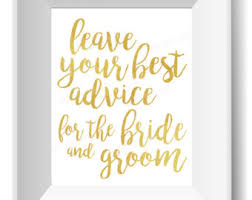 Advice For The Bride And Groom Cards Best Marriage Advice Etsy