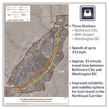 Bwi Airport Map Maglev High Speed Train Bowie Md Official Website