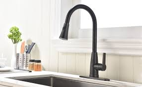 rubbed bronze kitchen sink faucet hotis best 1 or 3 pull out single handle single lever prep