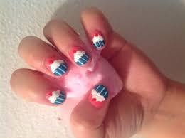 cupcake nail design for short nails youtube