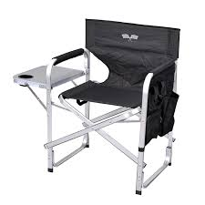 Folding Directors Chair With Side Table Stylish Cing Sl1204black Flag Back Folding