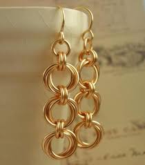 14kt gold earrings 14kt yellow or gold filled chainmaille earring kit