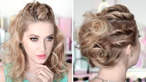 prom party hairstyles running late updo medium long hair