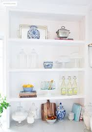 kitchenshelves com how to style open kitchen shelves citrineliving