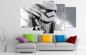 aliexpress com buy 5 piece canvas print painting stormtrooper