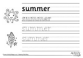 sun handwriting worksheet