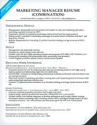 Marketing Professional Resume Sample Marketing Director Resume Marketing And Sales Manager