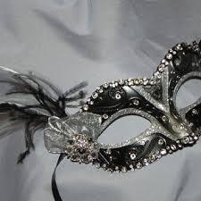 silver masquerade masks for women shop feather masquerade mask on wanelo