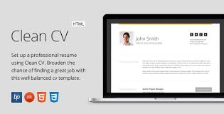 resume template website clean cv responsive resume template 4 bonuses by bitpub