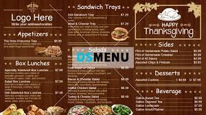 restaurant menu templates digital menu board for restaurant