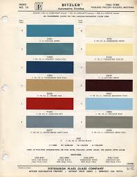 1964 1 2 ford mustang color chart with paint mixing codes maine