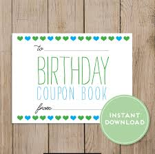 printable birthday coupon book editable pdf diy birthday