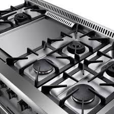 48 Gas Cooktops Hrg4808u 48 U2033 6 Burner Stainless Steel Professional Gas Range