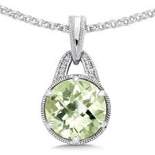 amethyst necklace silver images Shop by designer gt colore sg gt green amethyst diamond pendant in jpg