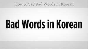 how to say bad words learn korean youtube