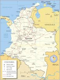 Columbia Campus Map Colombia Map Map Of Colombia Colombia Map In English