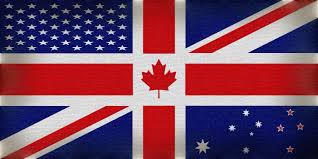 Flags Us Canada Usa Great Britain Australia And New Zealand Combined